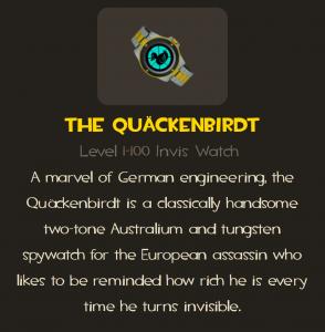 Quackenbirdt spy watch description