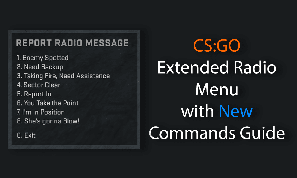 Featured image showing an extended report radio message