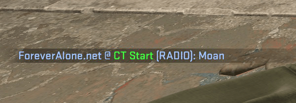 custom radio command message in csgo showing Moan for the death moan