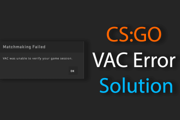 CSGO VAC Error Fix